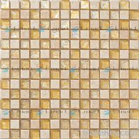 Stone mix glass mosaic tile