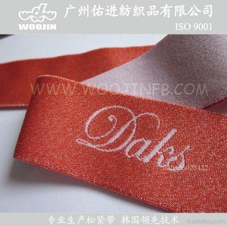 Underwear straps with bright yarn