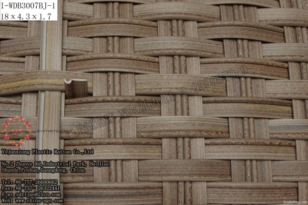 plastic rattan fiber/plastic wicker/synthetic rattan fiber/pe wicker
