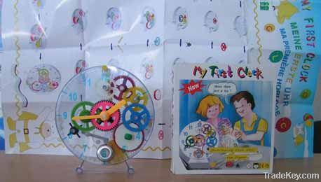 Diy toys clock for children DIY clock