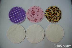 Soft washable/ reusable bamboo fiber Breast nursing pad