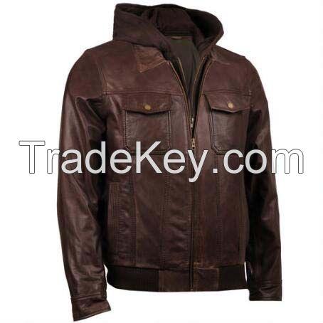 Factory direct clothing men's coat wholesale leather jacket for men-Men