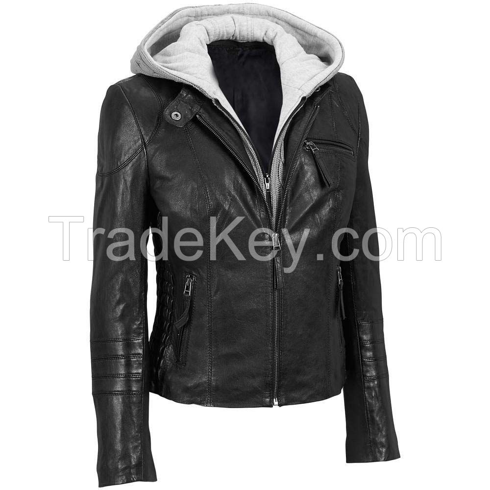 Factory direct wholesale pirce lamb double face fur overcoat with hood