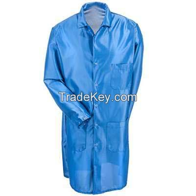 High quality polyester cotton fabric medical tech lab coat