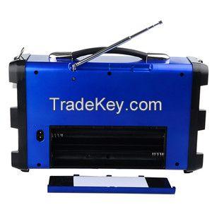 Portable Bagpack Speaker with Micphone/Recording/USB/TF/LED Disco light/FM Radio