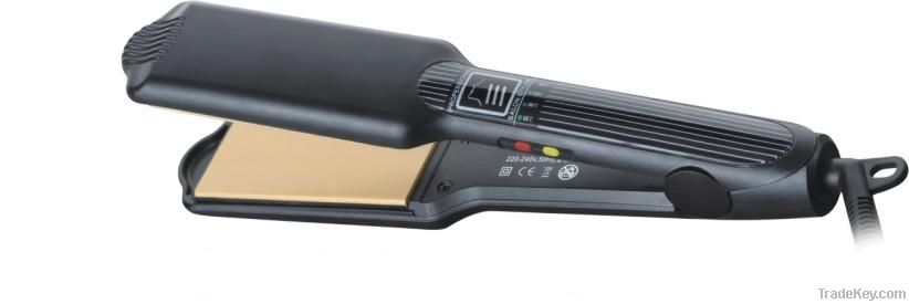 2012 new professional hair straightener, hair flat iron with LCD