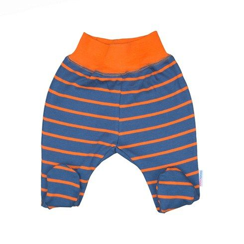Baby Pants Feet Covered - 100 % Ecological European Product, Made of Pure Cotton