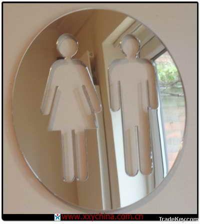 Mirrored Sign Sticker