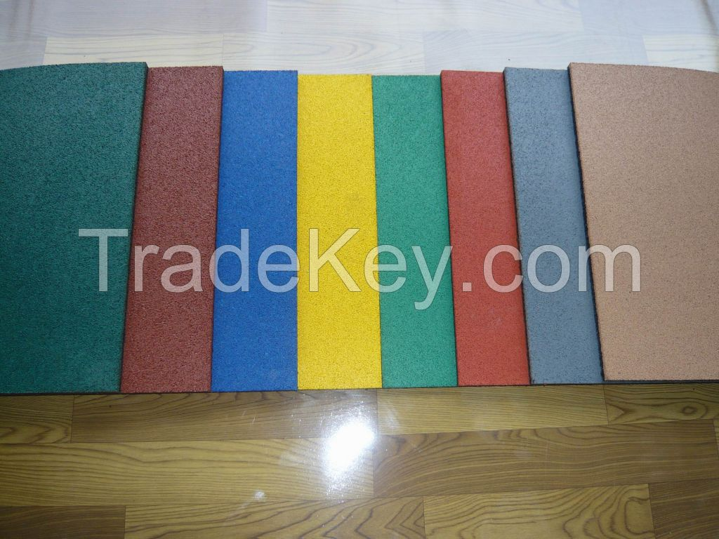 epdm color rubber tile