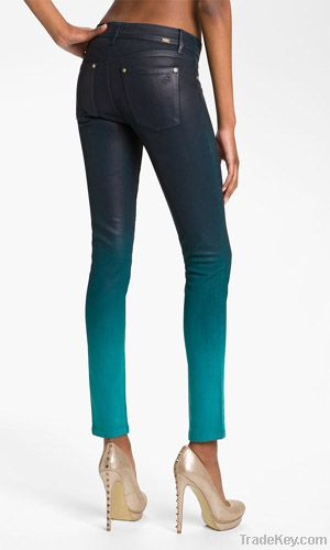 2 Colored Waxed Skinny Jeans