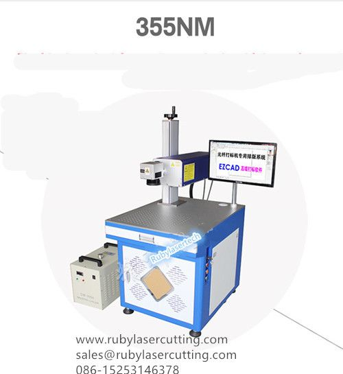 3-5W.UV Fiber Laser Marking Machine for glass