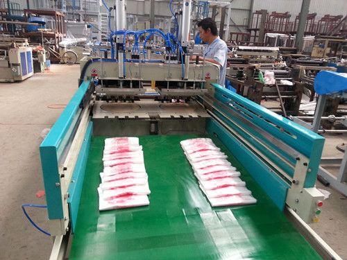 Double layers four lines automatic plastic carry bag making machine(TLXJ-C800)