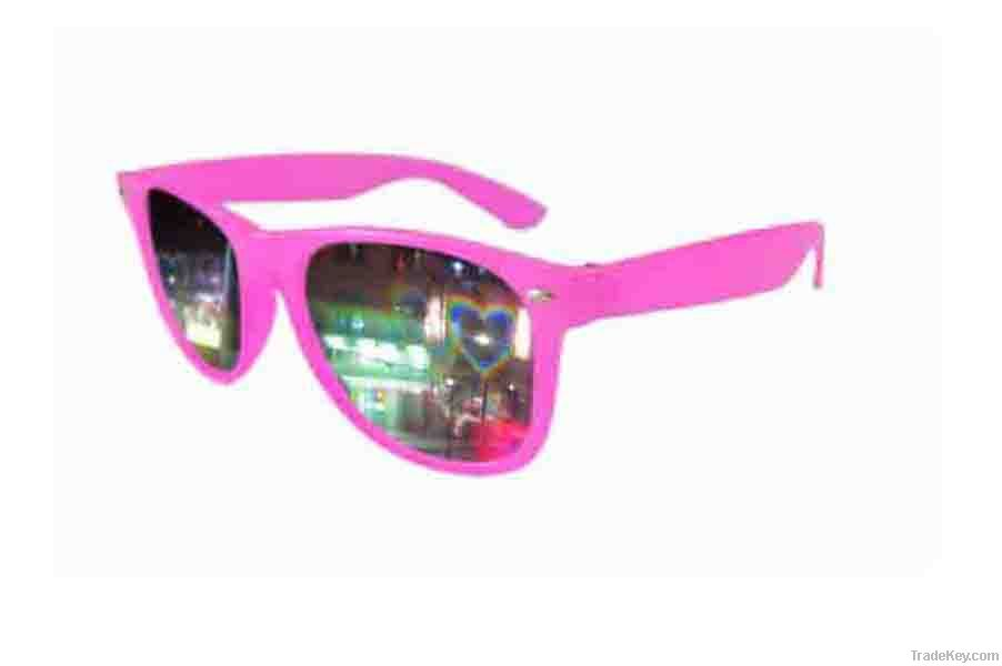 heart diffraction grating glasses for christmas , night clubs , birthday