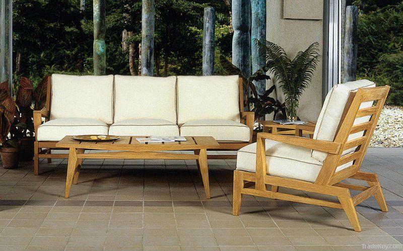 3pcs teak wood sofa set