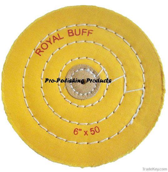 cotton buffing wheel, jewelry buffs, yellow muslin buffs