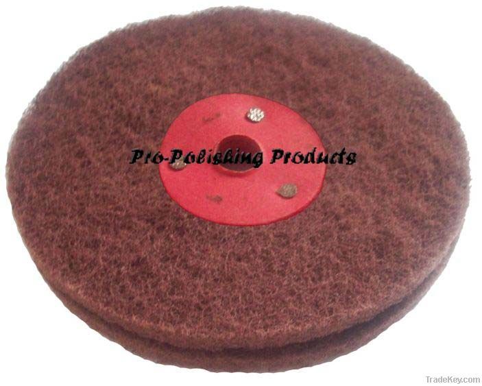 non woven polishing wheel, satin web polishing wheel