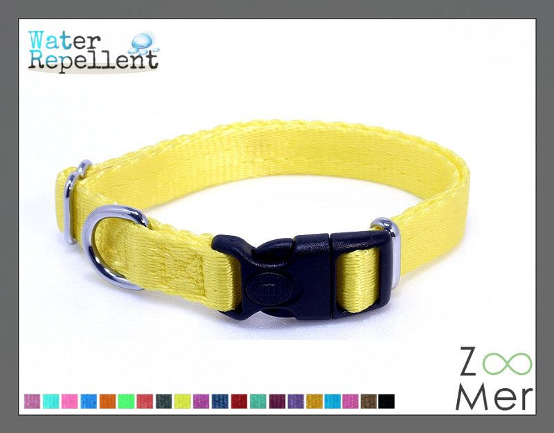 *Water Repellent Twilled Nylon* Lockable Dog Safety Collar