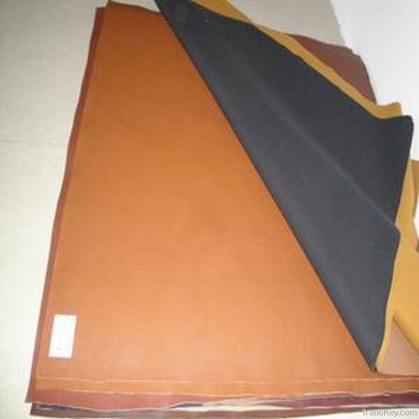 Polishing synthetic leather