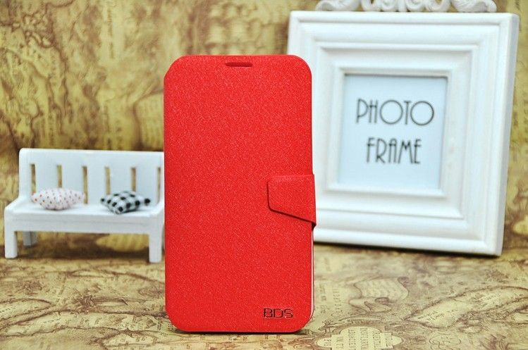 Flip leather wallet case for samsung I8552