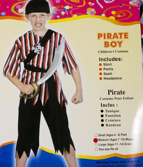 Pirate Costume Childern