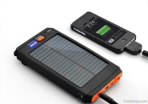 Rechargeable solar charger for laptop