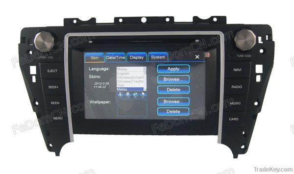 Toyota Camry 2012 Radio DVD GPS Navigation system bluetooth Autoradio