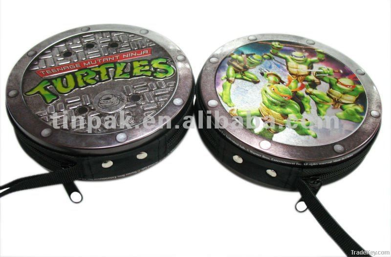 cd tin case with zipper