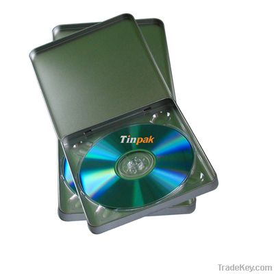 cd dvd tin packaging, metal cd dvd case, multi media metal container