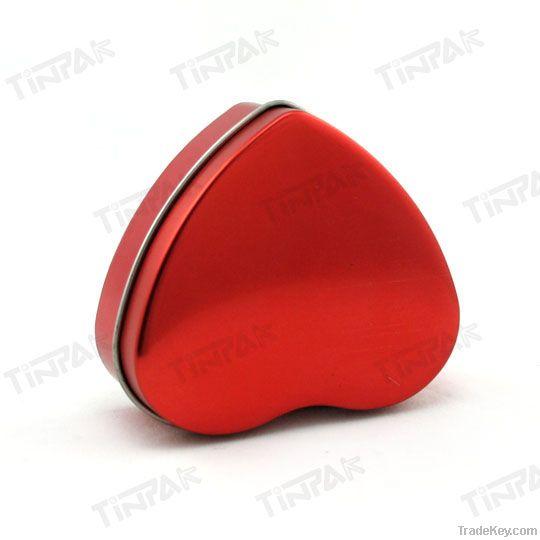 heart tin packaging/Valentine heart tin box