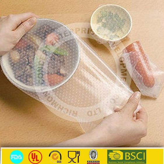 kitchen food service silicone food wrap/cling film