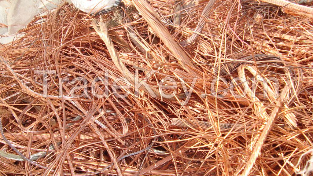 copper scraps 99,9 % +Aluminum