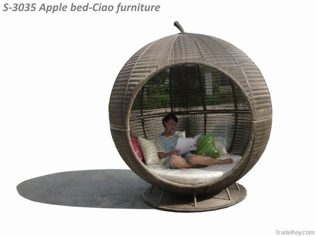 garden furniture wicker daybed with canopy