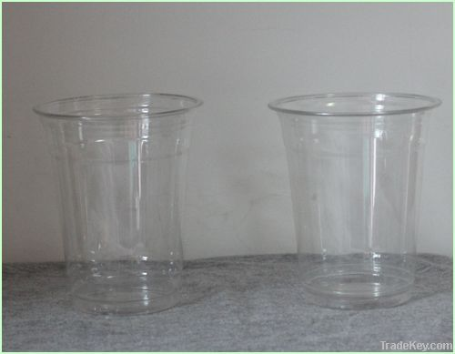Disposable plastic drink cup