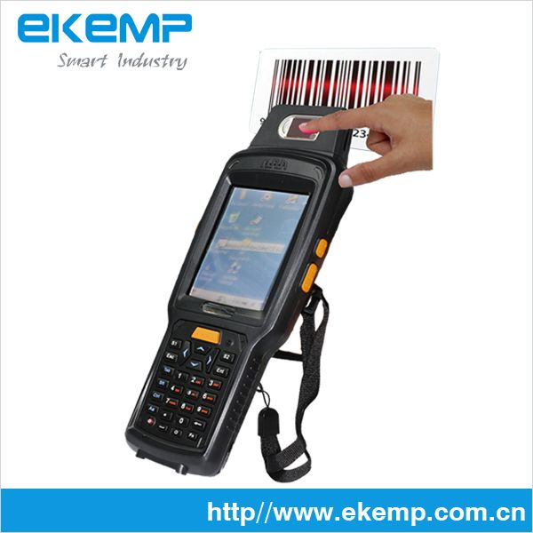 Handheld Rugged GPRS WIFI PDA with Fingerprinter and 2D Barcode Scanner