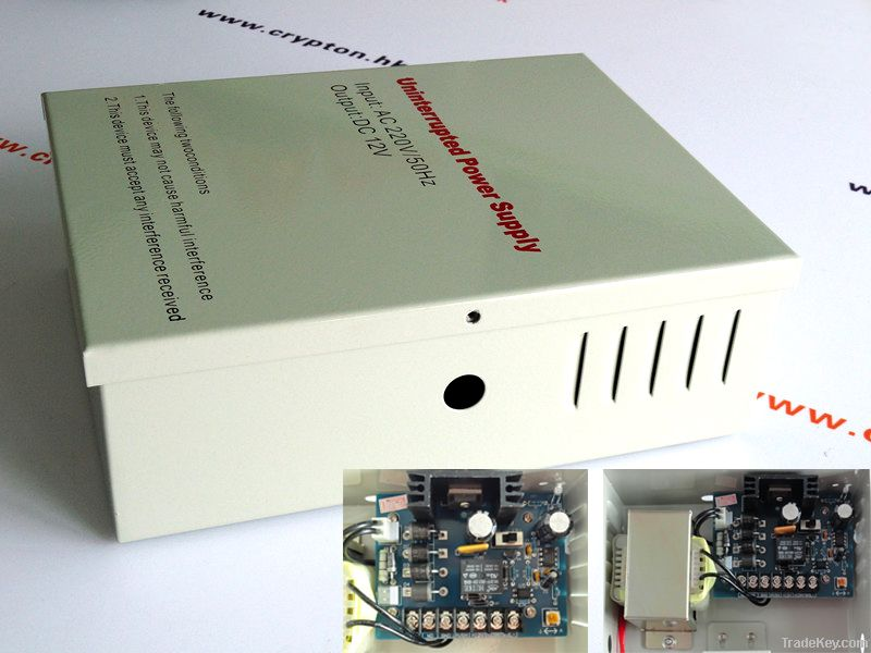 Power Supply for Access Control with 12V 5A Metal Case