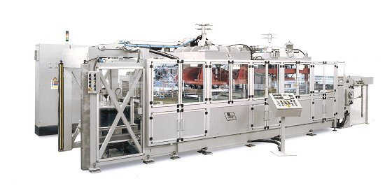 RF welder for producing transparent containers