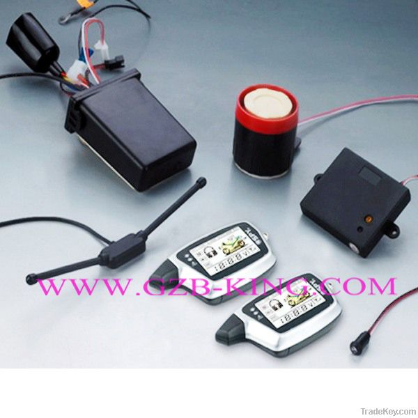 FM-FM 2-way LCD pager motorcycle alarm