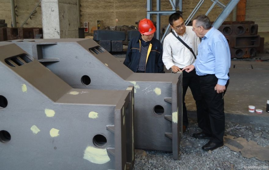 casting parts, steel structure, final machined