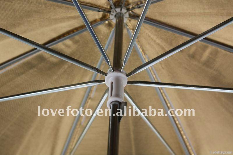 Photographic Equipment Gold/Silver Two Layer Umbrella