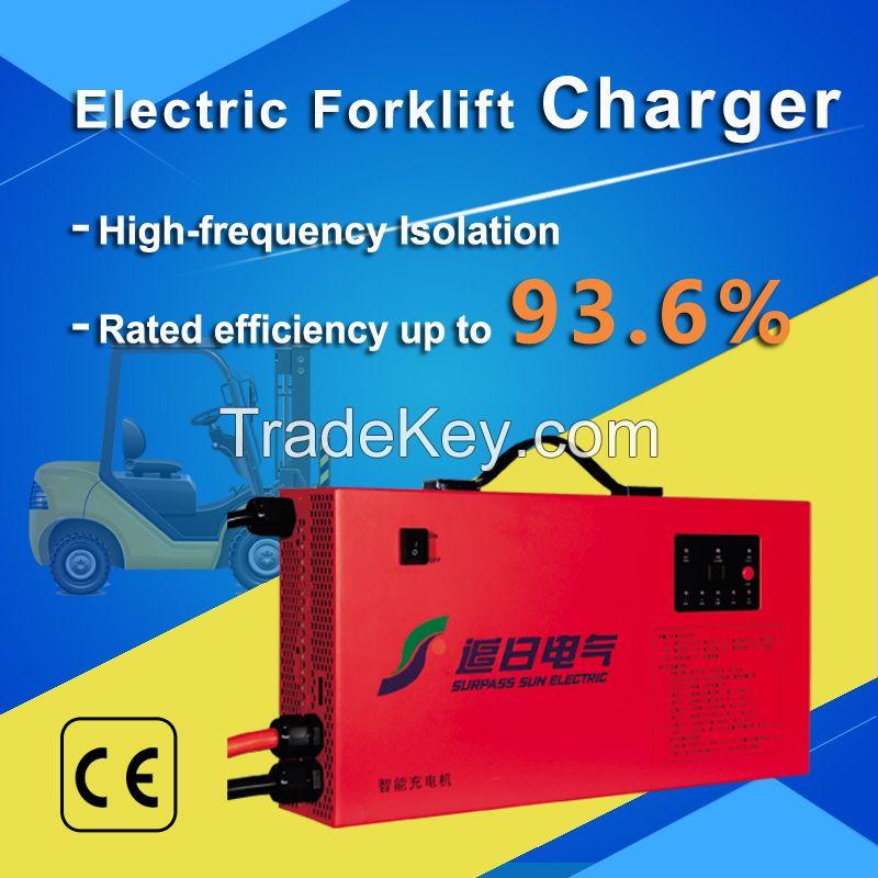 48V~80V Intelligent Electric Forklift Charger Li Ion/Lead Acid battery charger