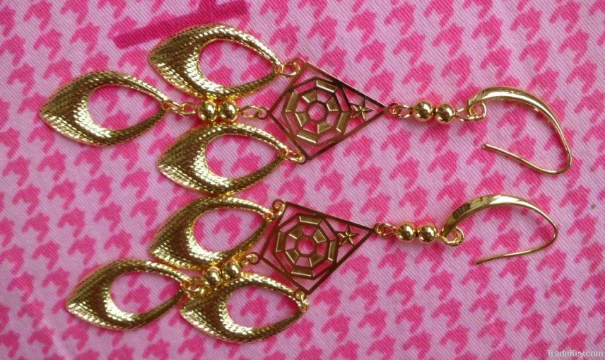fashion gold plated earring
