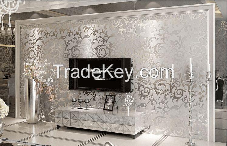 Wholesale Fashion Euro style non-woven 3d wallpaper