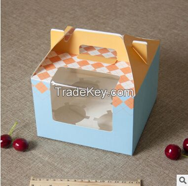 customized  paper boxes for cake 4 pcs internal plate