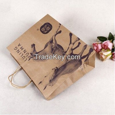 customized logo printing craft paper tea packaging bags