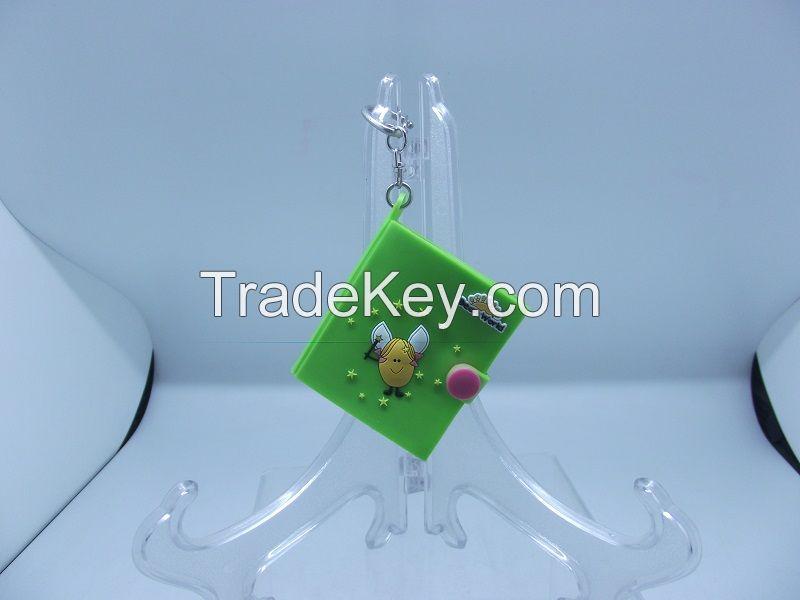 Bean World notebook key chain