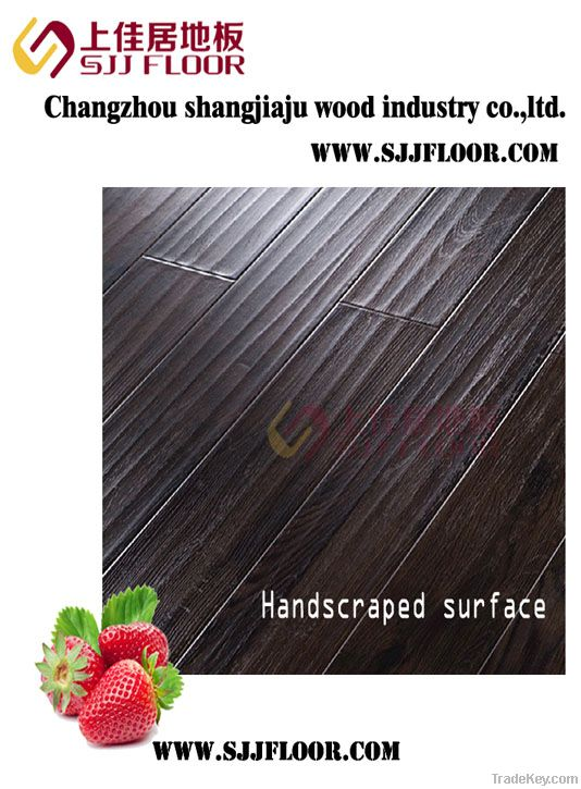 8mm/12mmLaminate flooring (sgs) handscraped
