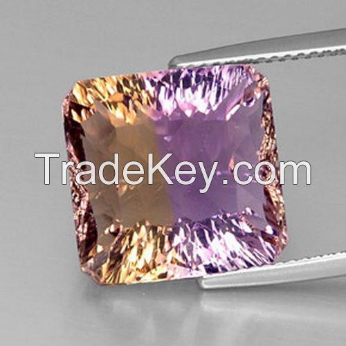 Loose natural ametrine gemstones