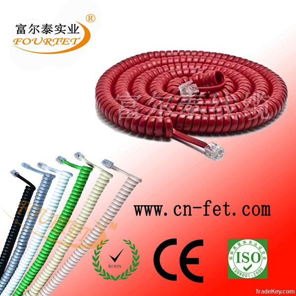 4core stranded 7/0.10mm telephone cord