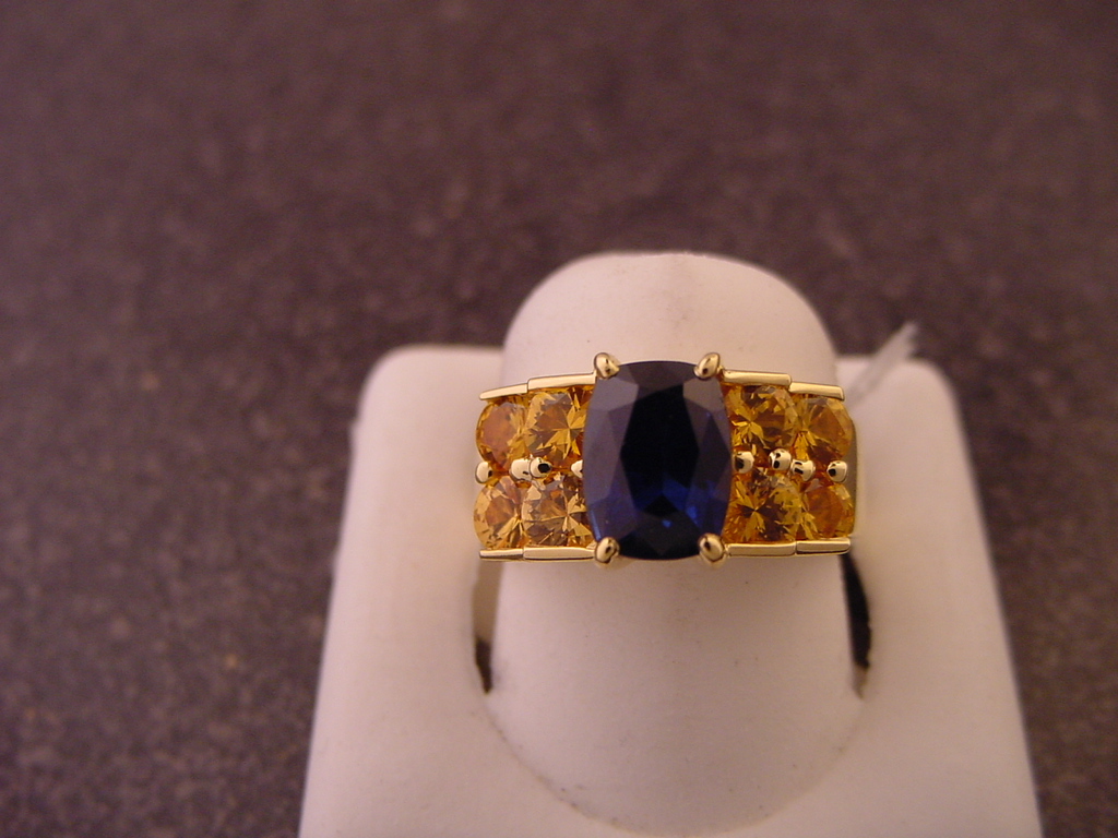 Stock of jewellery and gemstones and display cabinets