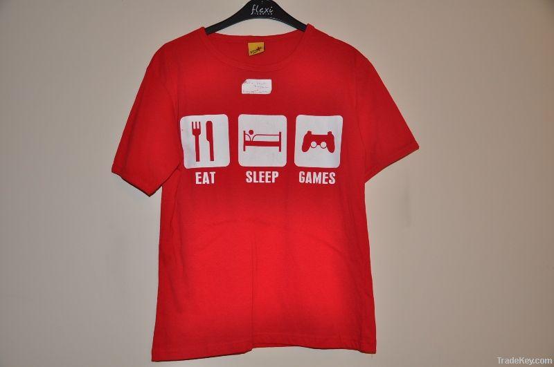 Round Neck Printed Mens Tshirt